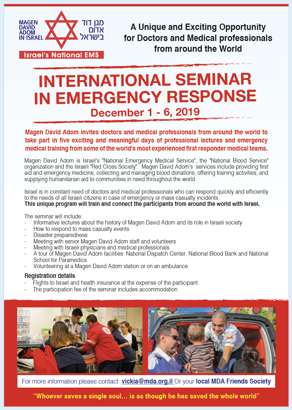 INTERNATIONAL SEMINAR IN EMERGENCY RESPONSE 2019